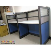 Cubicles with Stripes Design Office Partition