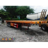 Tri axle Semi Trailer Flatbed