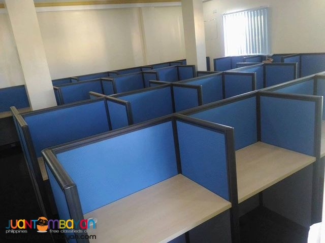 Office with Full Fabric Partition