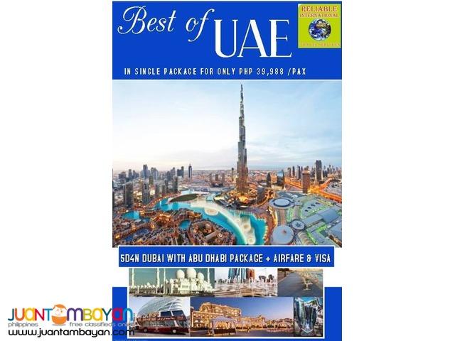 5D4N Dubai with Abudhabi Tour Package + Airfare & Visa