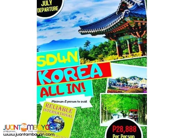 5D4N Korea Full Board Package + Airfare & Visa