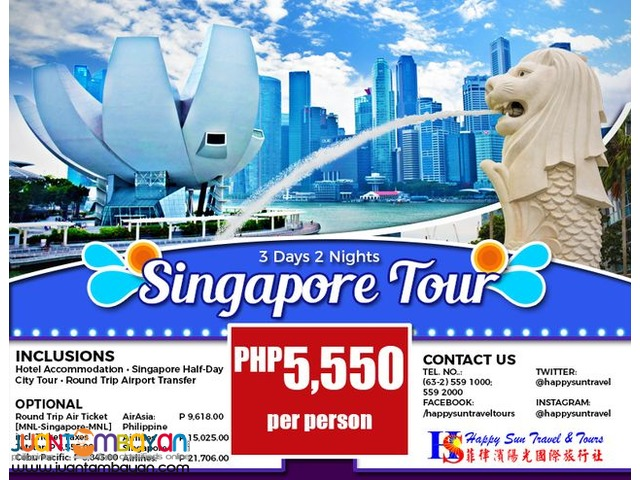 3D2N Singapore City Tour