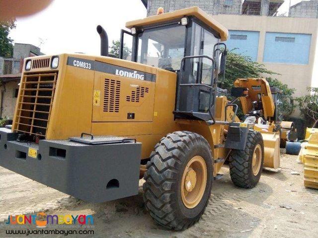 CDM833 Payloader 1.7 cubic Wheel Loader Lonking