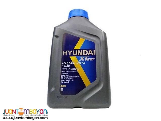 Hyundai XTeer Diesel Ultra 5W40 100% Synthetic 1 Liter