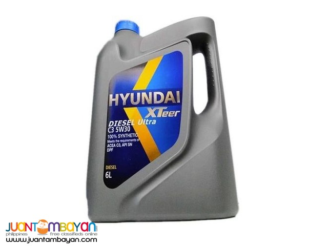Hyundai XTeer C3 5W30 100% Synthetic 6 Liters