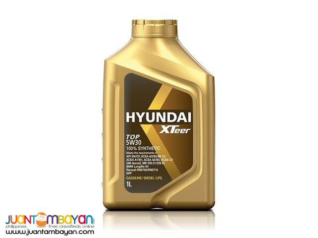 Hyundai XTeer TOP 5W30 100% Synthetic - 1 Liter