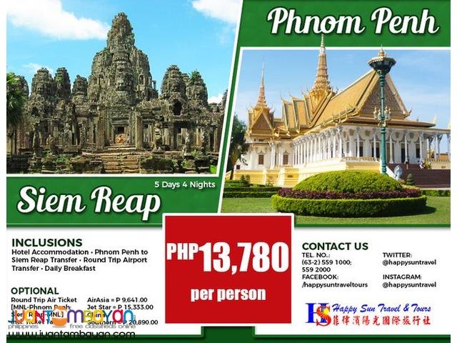 5D4N Siem Reap + Phnom Penh Package