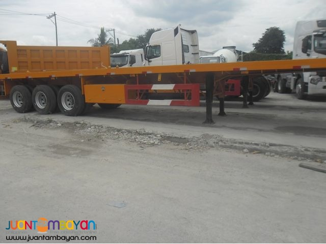 Tri axle semi Trailer Flatbed 45T 40feet