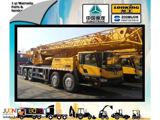QY50B.5 Truck mounted crane Brand new XCMG (50TONS)