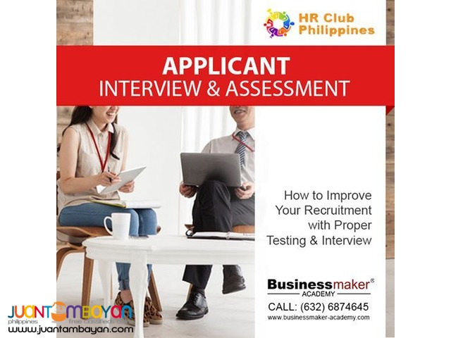 Applicant Interview and Assessment