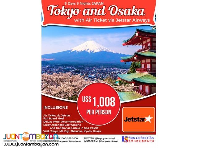 6D5N Japan Full Board Package via Jetstar Airways