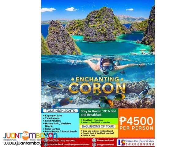 3D2N Enchanting Coron Package
