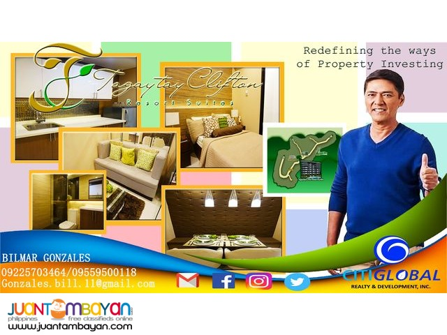 Pre Selling Condotel:Tagaytay Clifton Resort Suites
