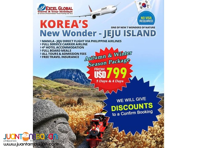 KOREA'S NEW WONDER TOUR PACKAGE FOR AUTUMN AND WINTER SEASON