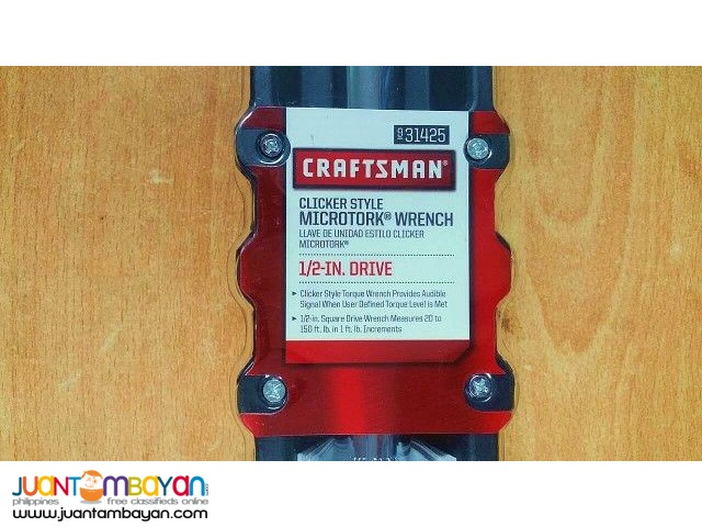 Craftsman 31425 1/2-inch Drive Micro-Clicker Torque Wrench