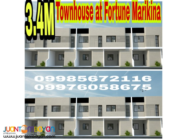 Townhouse for sale at fortune marikina
