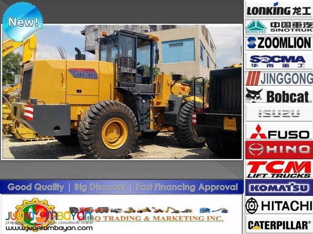 CDM860 Lonking Brand new Wheel Loader 3.5cbm Bucket Size