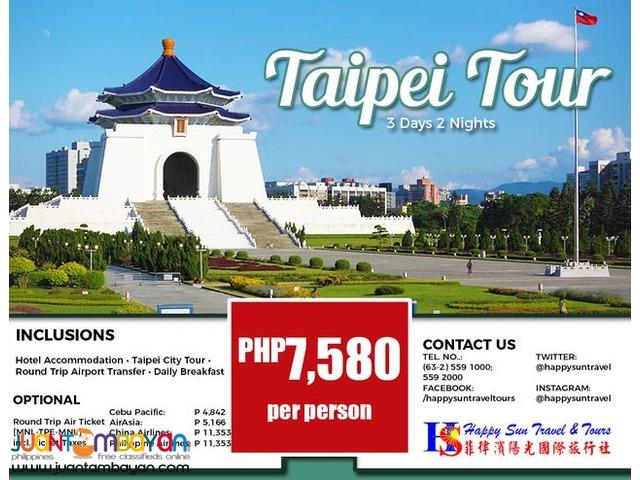 3D2N Taipei City Tour