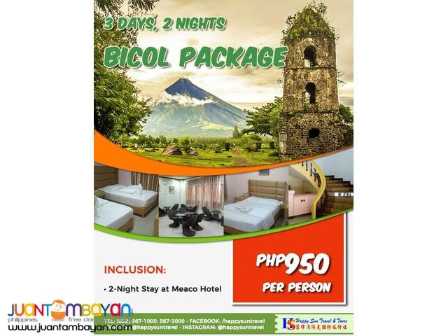 3D2N Bicol Package