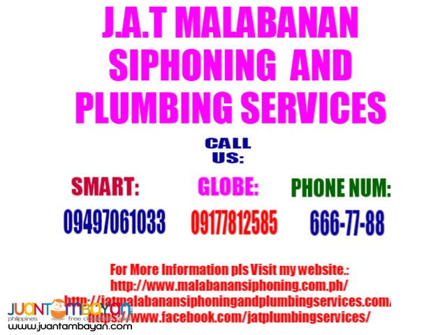 Dong Plumbing Siphoning Services And Declogging Service