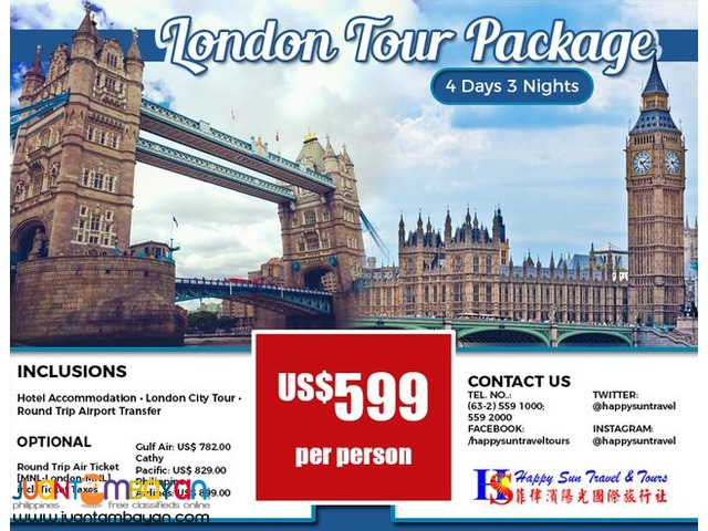 4D3N London Package with City Tour