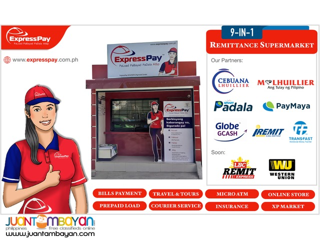 9-in-1 Travel & Tours Bayad Center Franchise Business
