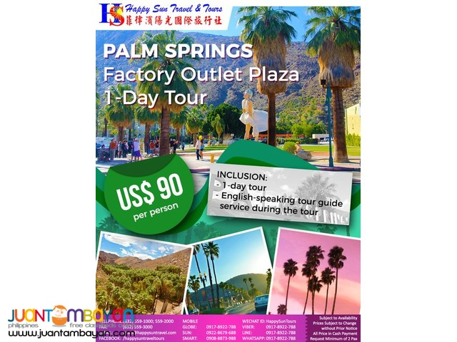 Palm Springs Free and Easy 1-Day Tour Package