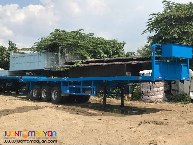 FOR SALE TRAILER TRI-AXLE FLATBED 40FT 45 TONS