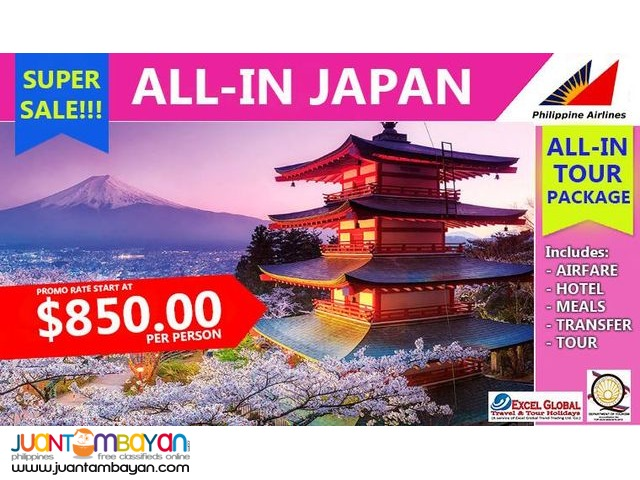 ALL-IN JAPAN TOUR PACKAGE SUPER SALE!!! WITH ROUNDTRIP AIRFARE