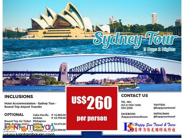 3D2N Sydney Tour Package