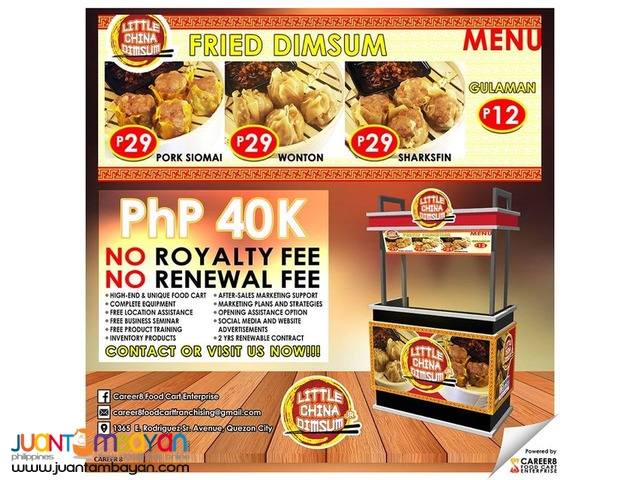 Best Food Cart Ready to Operate Franchising Business