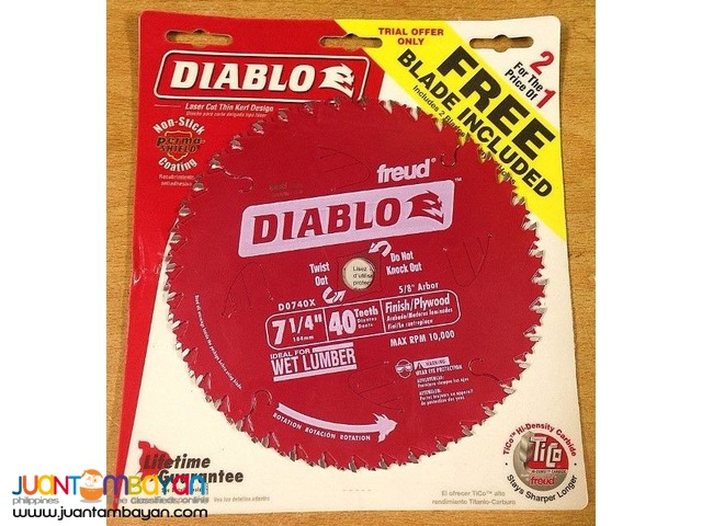 Freud D0740X Diablo 7-1/4 40 Tooth Finishing Saw Blade, 2-pack