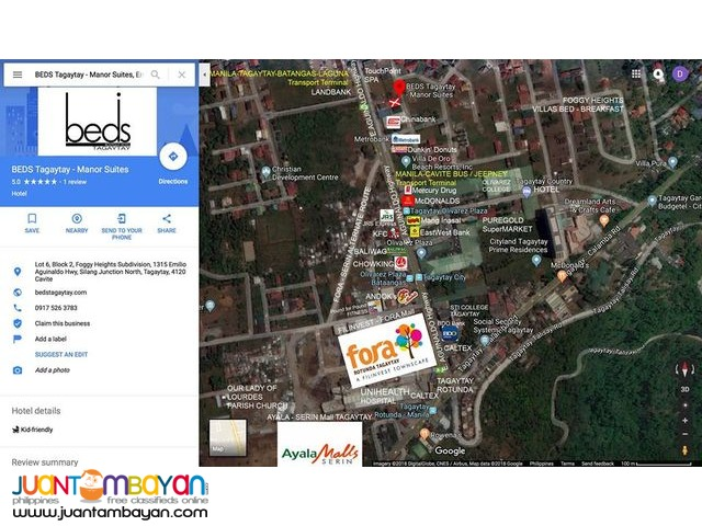Rush Lot for SALE  350 SQM TAGAYTAY CITY