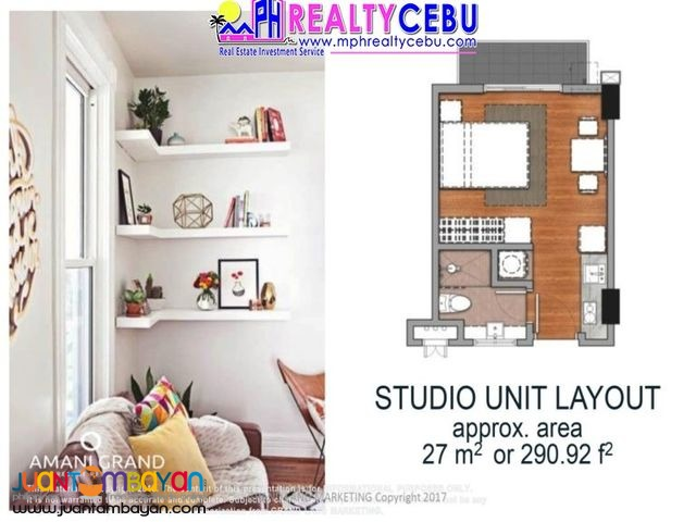 27m² STUDIO TYPE UNIT AT AMANI GRAND RESORT CONDO LAPU-LAPU CEBU