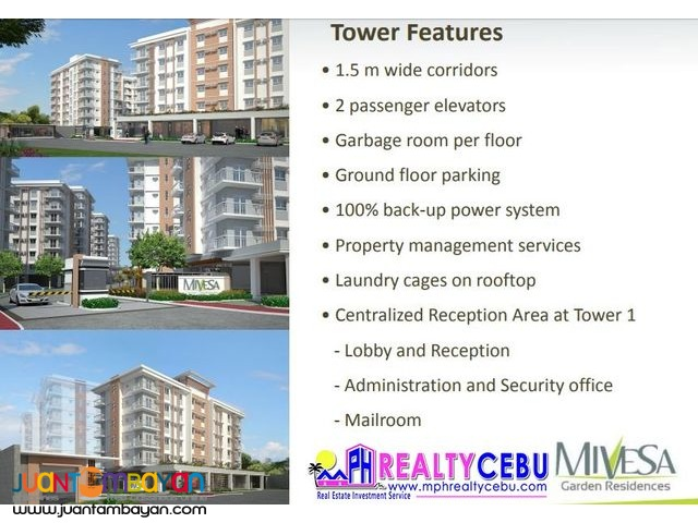 2 BR 55 m² CONDO UNIT AT MIVESA GARDEN RESIDENCES CEBU CITY