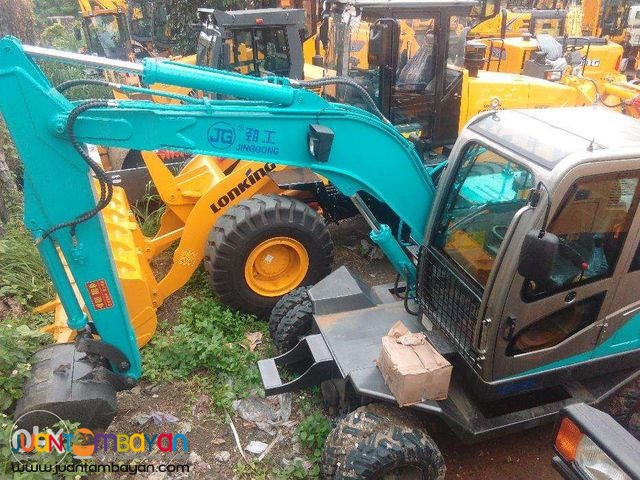 Jinggong JG80 Brand new Hydraulic Excavator Wheel-Type