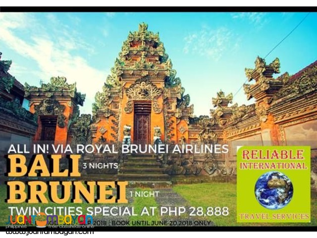 TWIN CITIES via ROYAL BRUNEI (BRUNEI + BALI INDONESIA)