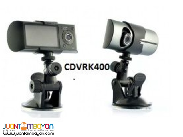 Dual Dashcam Front and back seat with Gps Logger cdvrk400