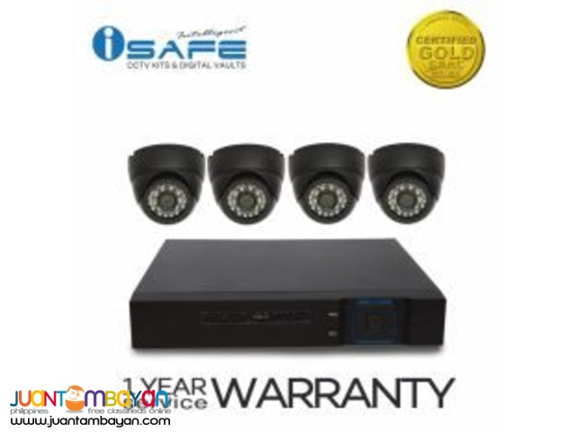 1mp 4 Dome Cctv camera with 8 channel dvr