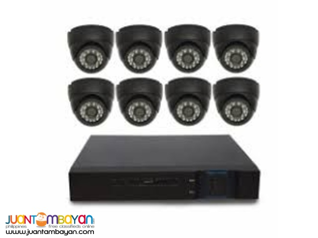 8 CHANNEL DOME TYPE CAMERA 1MP WITH FREE 1 TB HDD