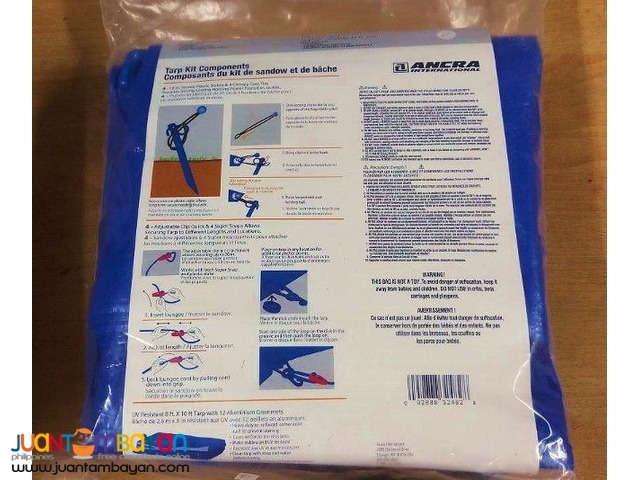 Ancra 95735 18-piece 8' x 10' All Weather Bungee & Tarp Kit