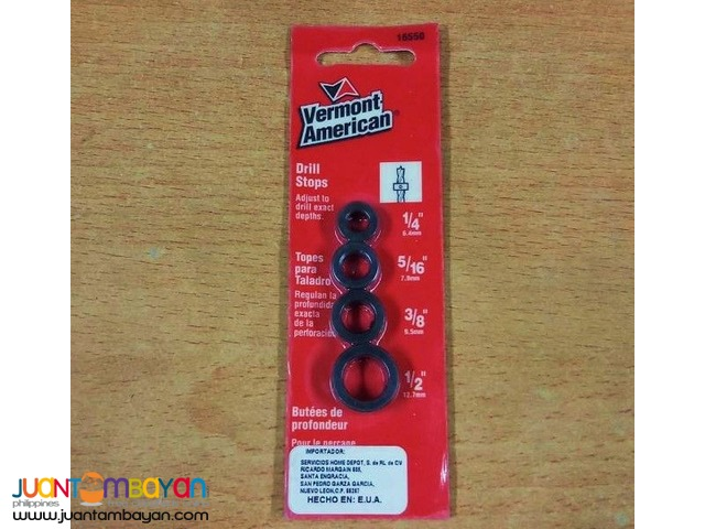 Vermont American 16550 4-piece Drill Stop Set