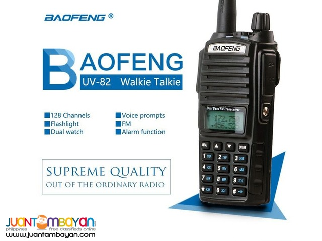 LONG RANGE BAOFENG UV-82 DUAL BAND WALKIE TALKIE TWO-WAY RADIO