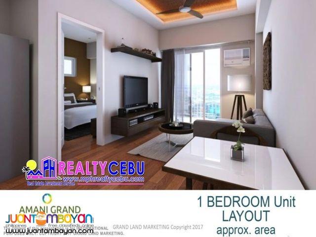 CONDO UNIT 1 BR 39 m² AT AMANI GRAND RESORT CONDO LAPU-LAPU CEBU