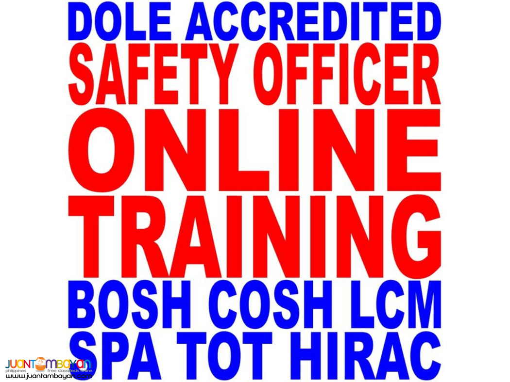 Dole Accredited Online Training Bosh Cosh Lcm Hirac Spa Tot So1 2 So3