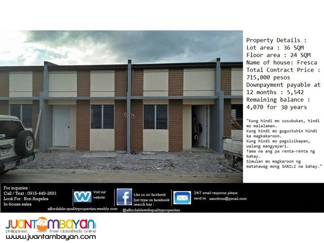 House and lot in Trece Martires 5,542 monthly