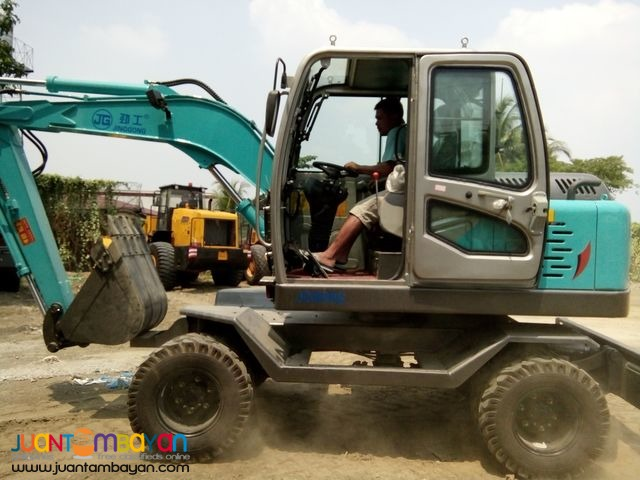 Jinggong JG80 Hydraulic Excavator - (wheel type)