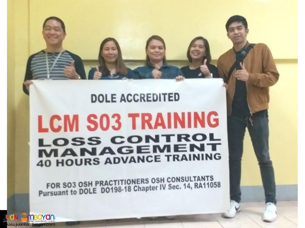 Online Dole Accredited Lcm Training Quezon City Lcm Training So3