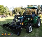 FARM TRACTOR WITH FRONT  END LOADER / BACKHOE / ROTAVATOR