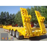 Two-Axle Lowbed Semi Trailer.